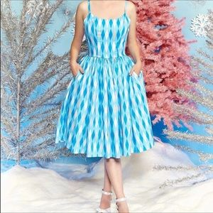 Pinup Girl Clothing - blue harlequin dress
